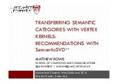Transferring Semantic Categories with Vertex Kernels: Recommendations with SemanticSVD++