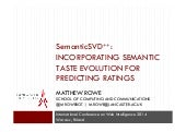 SemanticSVD++: Incorporating Semantic Taste Evolution for Predicting Ratings