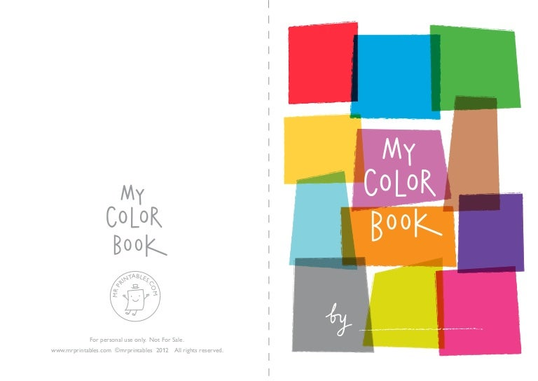 mrprintables mycolorbook a4 - My Color Book Printable