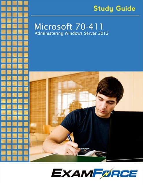 Windows Server 2012 Exam Paper 70-411 PDF