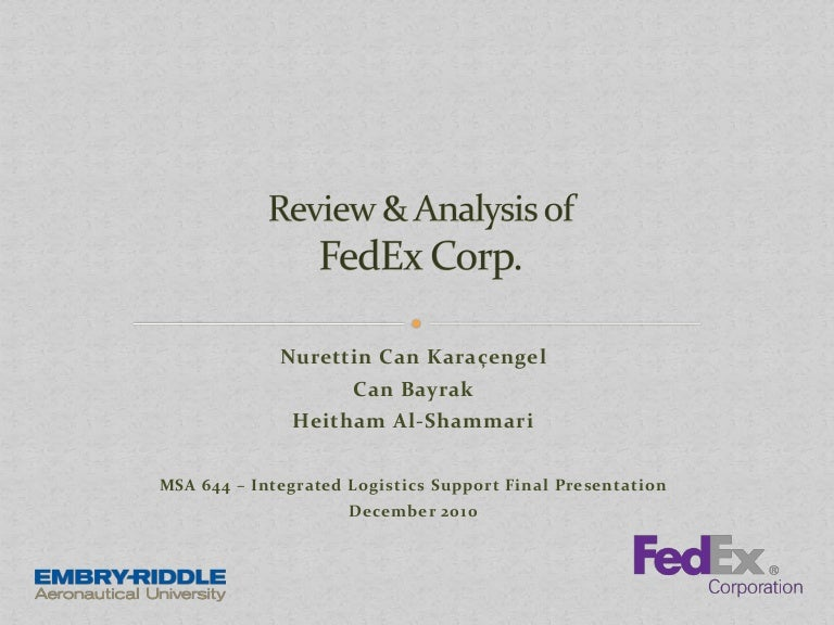 Fedex Corp Review Analysis