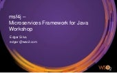 Workshop MSF4J - Getting Started with Microservices and Java
