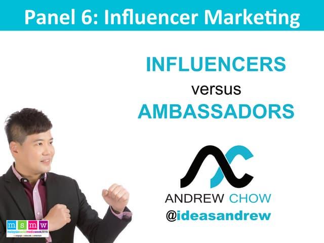 Influencers vs Ambassadors