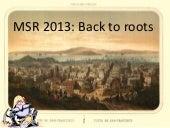MSR 2013 Announcement