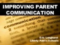MSTA 2010 Improving Parent Communication