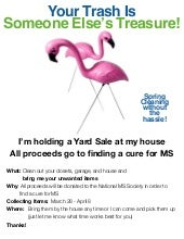 MS YARD SALE