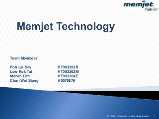 Improving Ink Jet Printers with MEMS