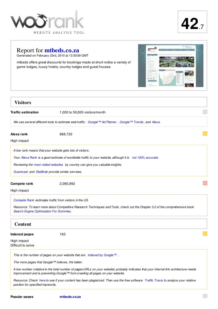mtbeds co za website analysis