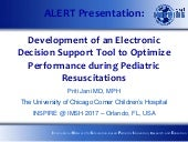 Development of an Electronic Decision Support tool to optimize performance during pediatric resuscitations