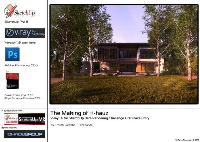 Mini The Making of H hauz _VRAY 1 6 beta rendering challenge
