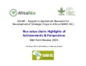 Rice value chain: Highlights of Achievements & Perspectives