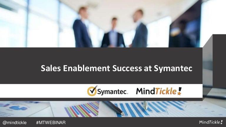 Sales Enablement Success at Symantec