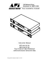 American Fibertek MX2-MM-FX-ST User Manual