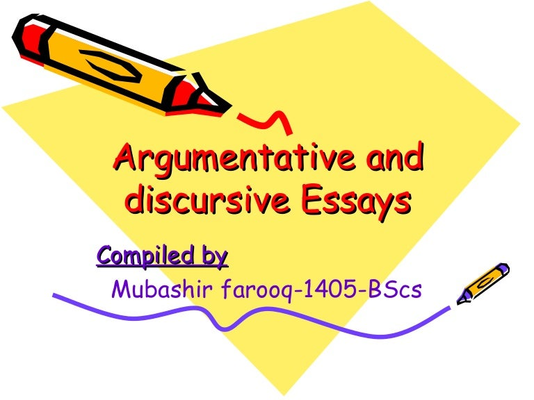 discursive and argumentative essays