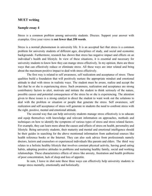 muet writing essay example