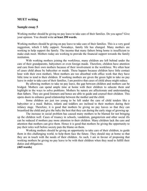 Argumentative Essay Sample Muet Test - image 6