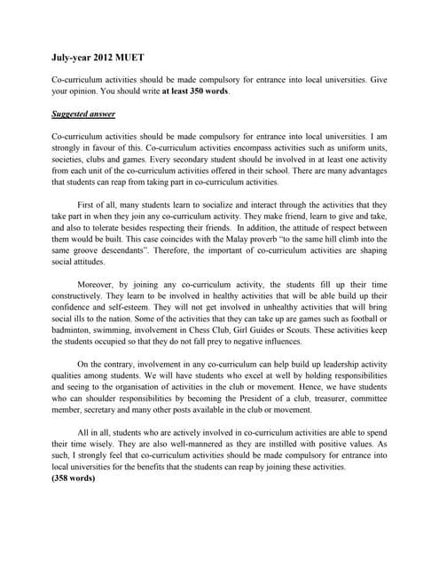 muet writing essay examples