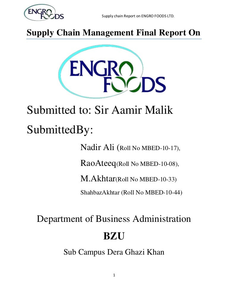 fact sheet engro foods limited Introduction of engro foods engro foods limited is subsidiary of engro corporation which is one of the most reputed enterprises in paki.
