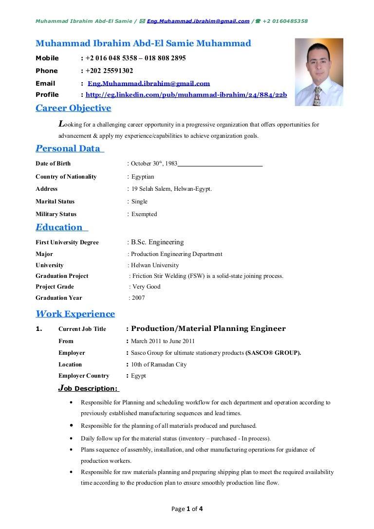 resume english skill