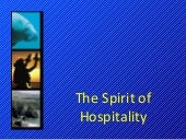 Muic. spirit of hospitality