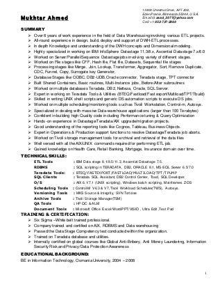 mukhtar resume etl_developer - Etl Developer Resume