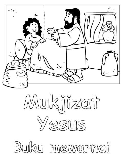 Mukjizat Yesus - buku mewarnai