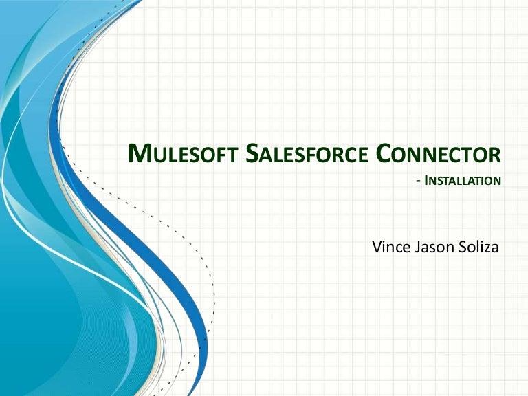 Mulesoft Salesforce Connector - Intallation