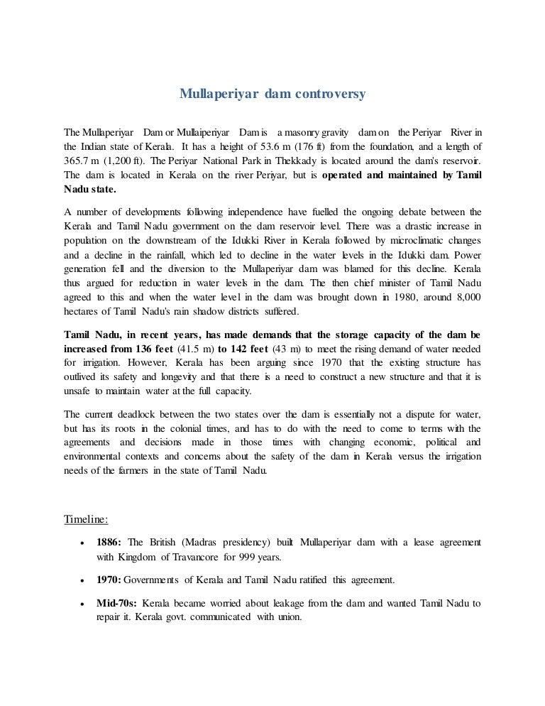 Mullaperiyar Dam Controversy