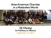 Asian American Churches in a Multiethnic World