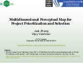 Multidimensional Perceptual Map for Project Prioritization and Selection - 2014 update