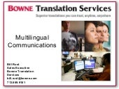 Multilingual Communications