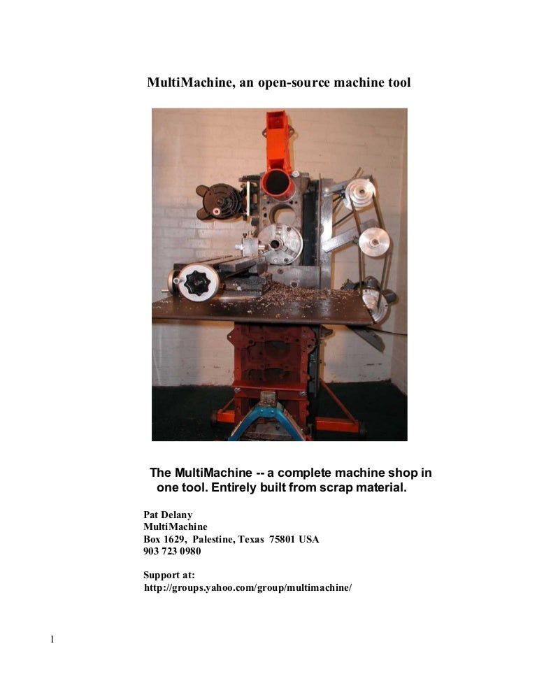 How to build a MultiMachine (DIY Machine Tools)