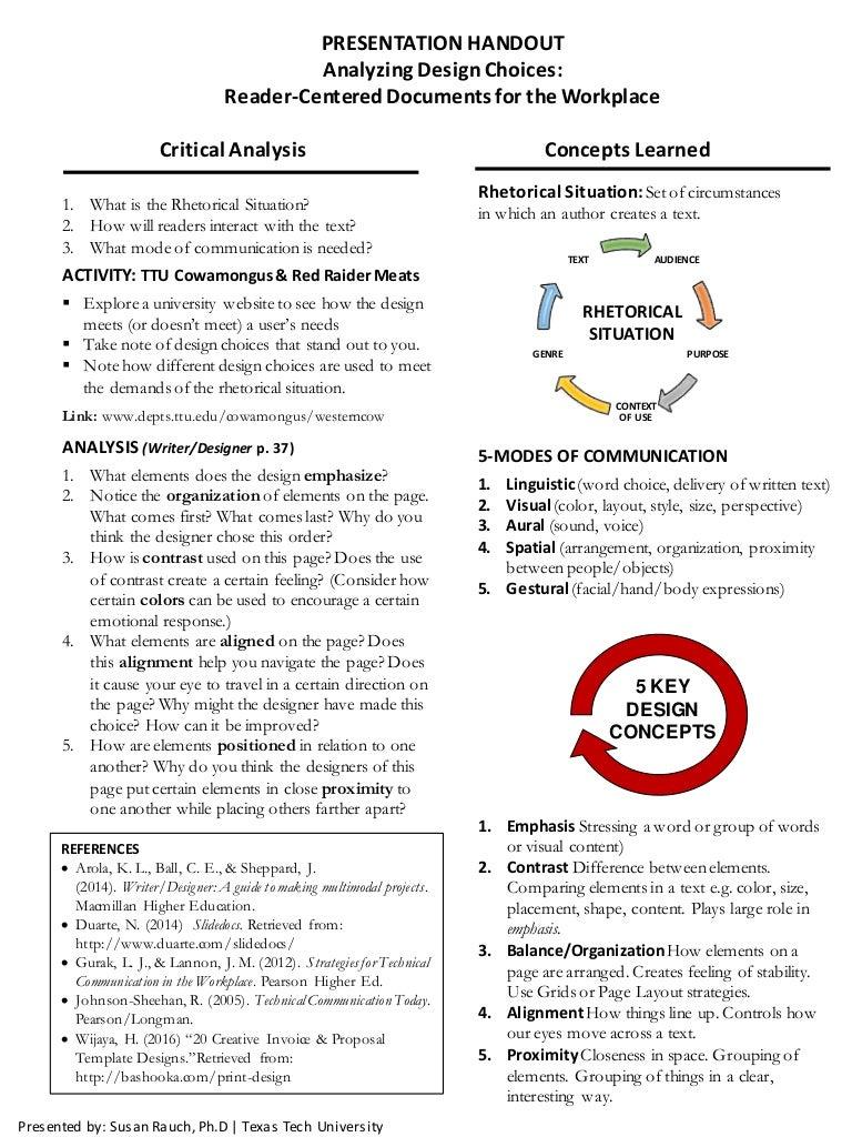 presentation handout template