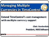 Multiple Currencies In Time Control