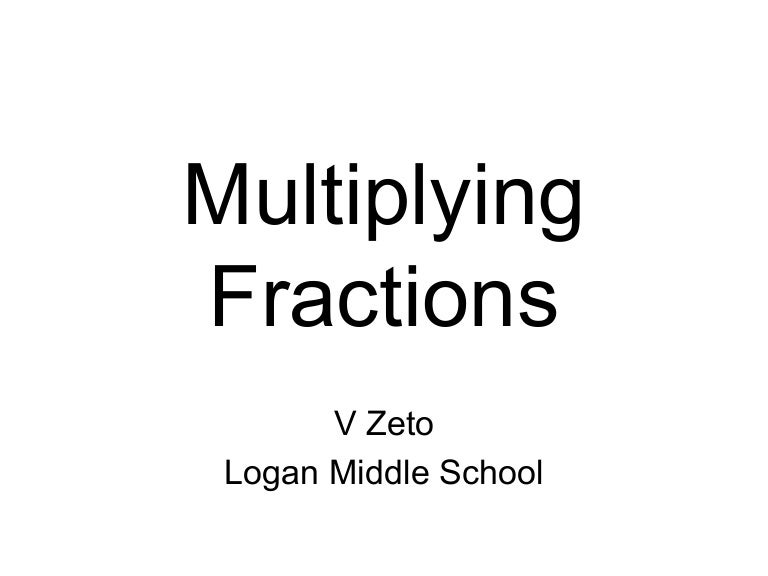 Multiplying Fractions (Answers)