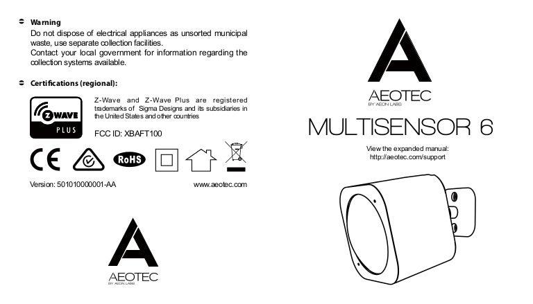 Aeotec gen 5 z-wave plus 6-in-1 multisensor 6 the smartest house.