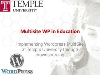 Multisite wp in education wc philly2011