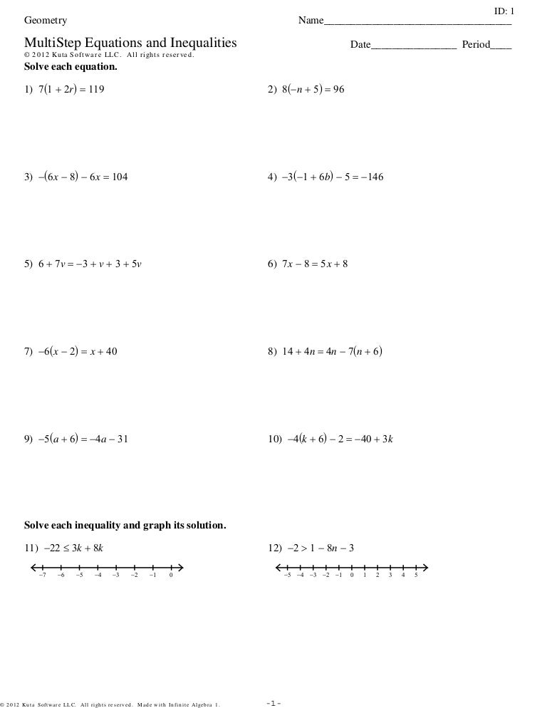 Algebra 1 Multi Step Equations Worksheet Free Worksheets Library – Multiple Step Equations Worksheet