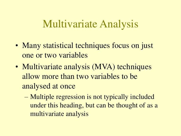 Multivariate analysis.