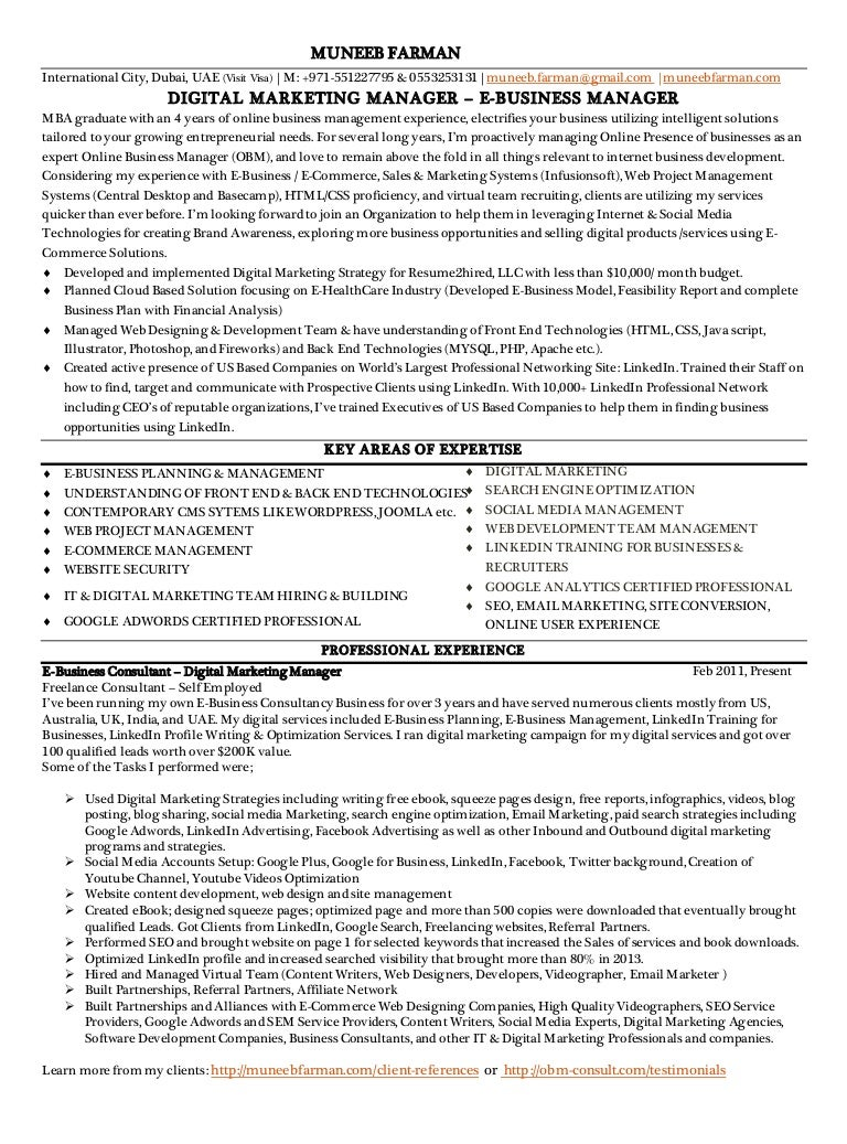 online marketing resume sample free resume wizard sample format muneebfarman resume 140417030446 phpapp02 thumbnail 4 - Online Administration Sample Resume