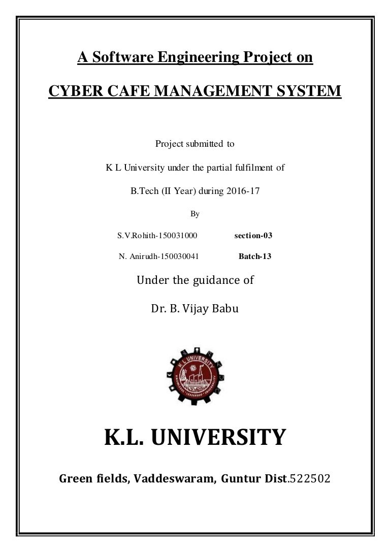 A software engineering project on cyber cafe management ccuart Images