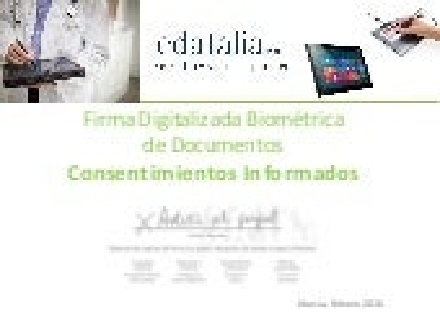 Firma Digital Biométrica en Consentimientos Informados.