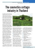 The Cosmetics Cottage Industry in Thailand