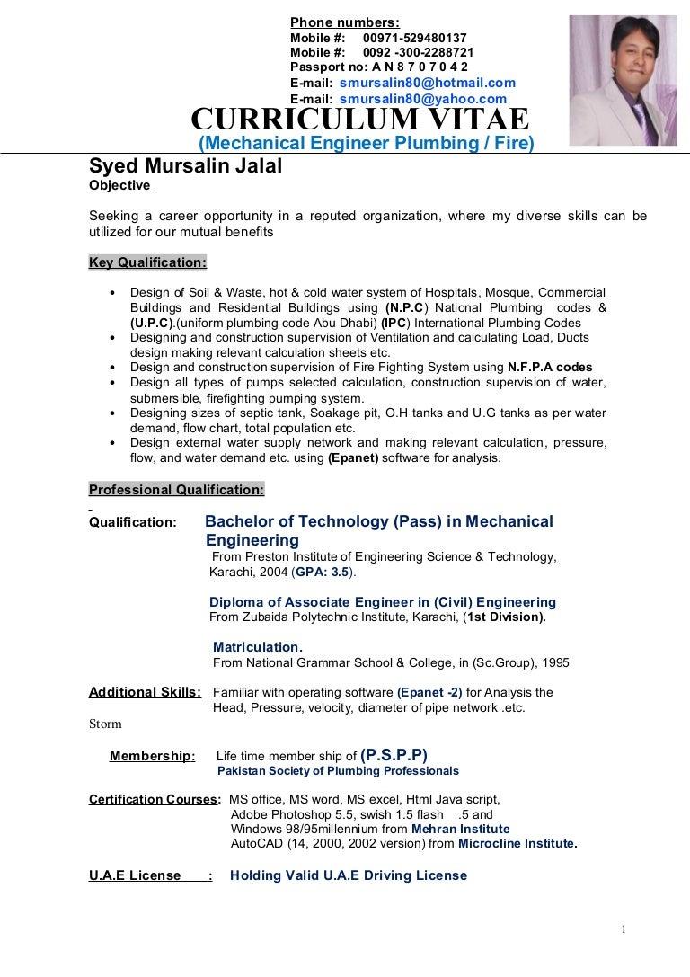 sample resume for diploma mechanical engineering for the post mechanical engineer - Navy Nuclear Engineer Sample Resume