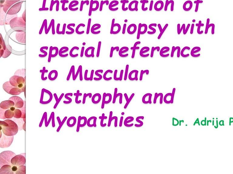 muscle biopsy adrija, Muscles
