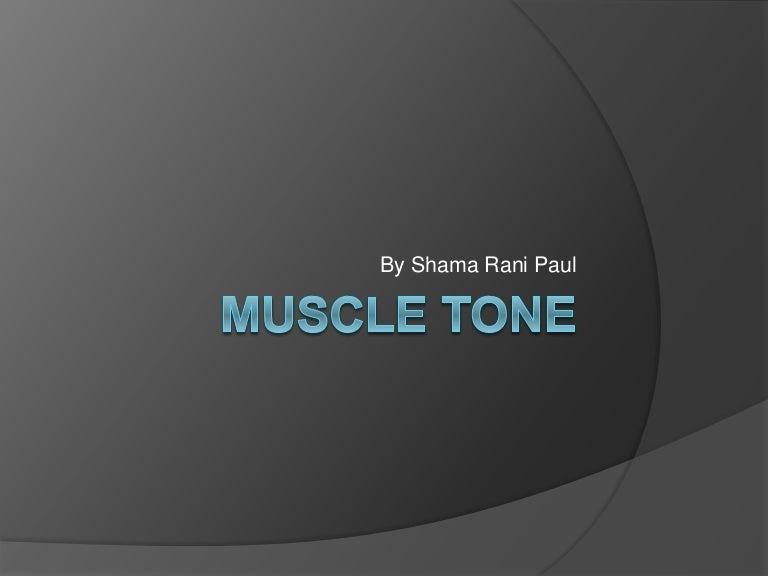 Muscle Tone Pbl Mbbs
