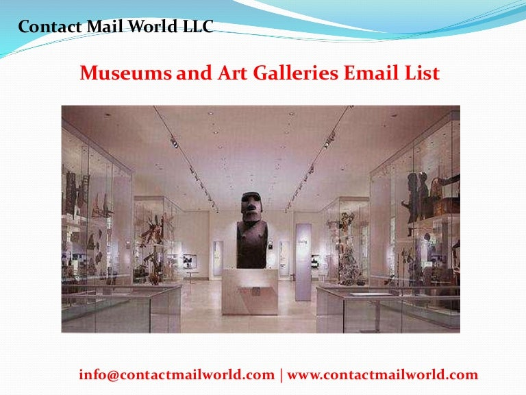 Museums And Art Galleries Email List