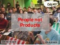 People not products