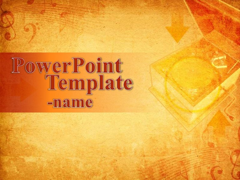 musical powerpoint template