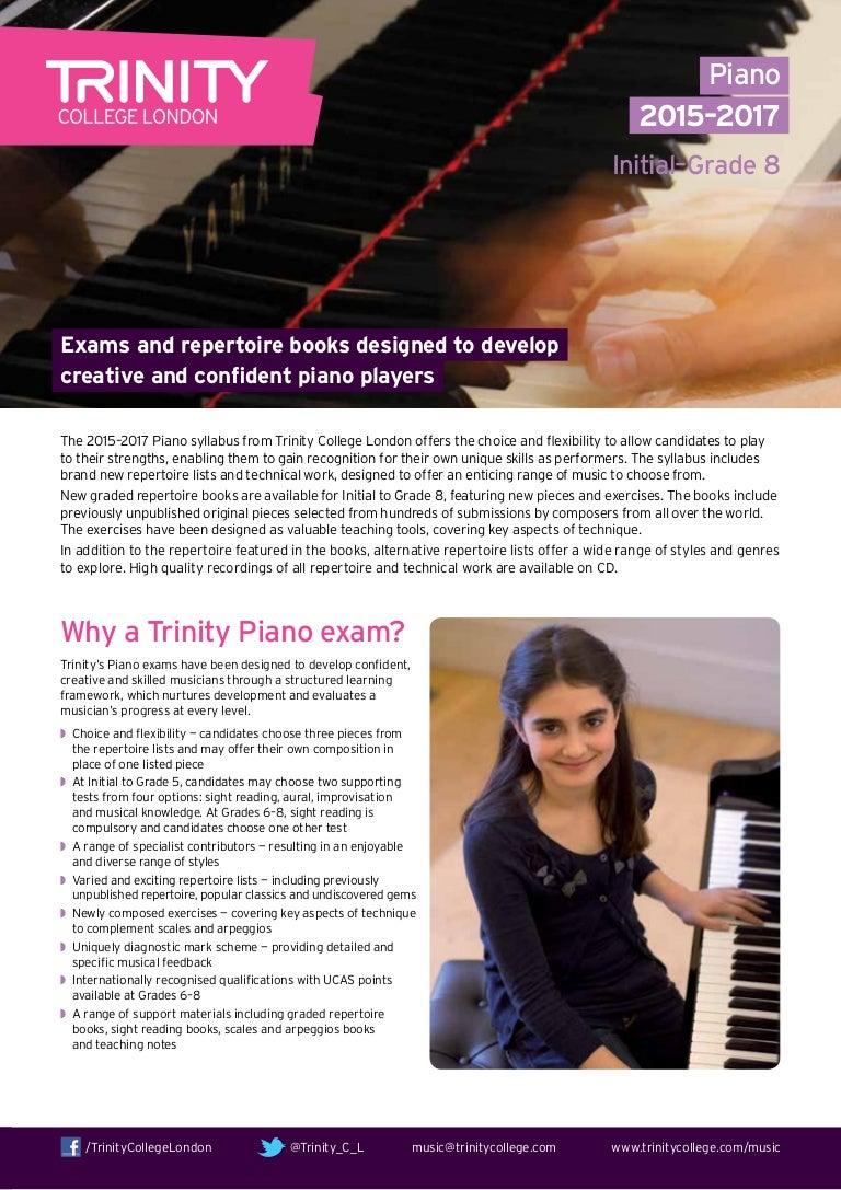 Trinity Piano Grade Exam